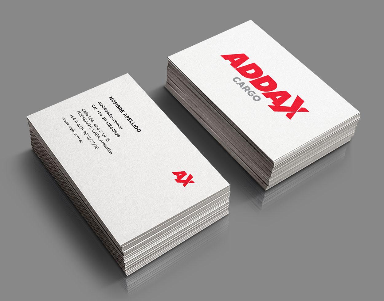Addax Cargo tarjetas