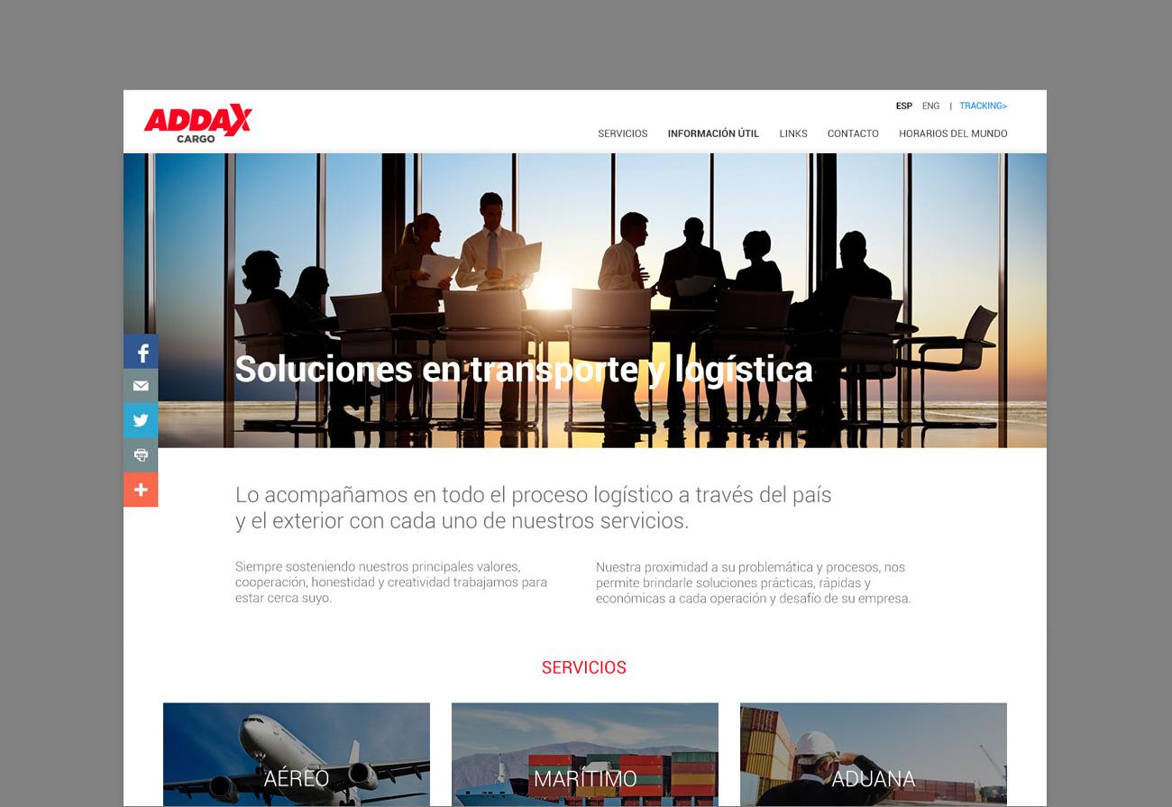 Addax Cargo web